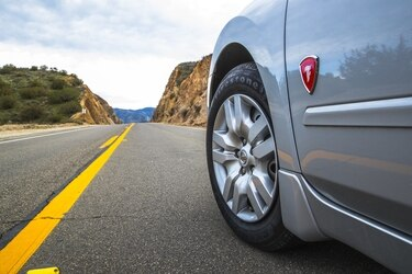 Firestone Champion with Fuel Fighter Technology tire on the road.